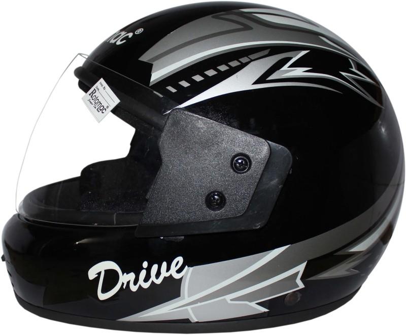 Rotomac Full Face ISI Mark Black Gray Plain Visor Silod Plastic Motorbike Helmet(Black)