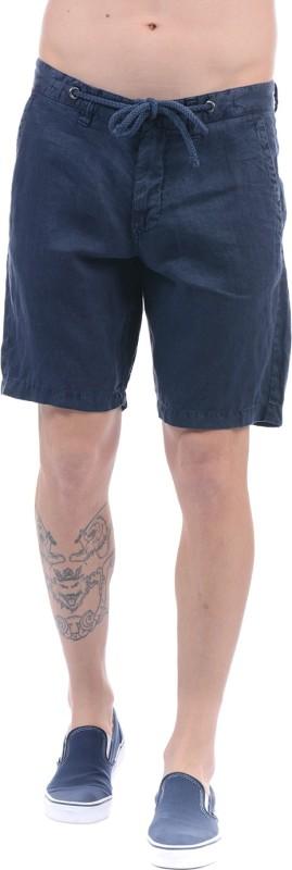 Gant Solid Men Dark Blue Basic Shorts