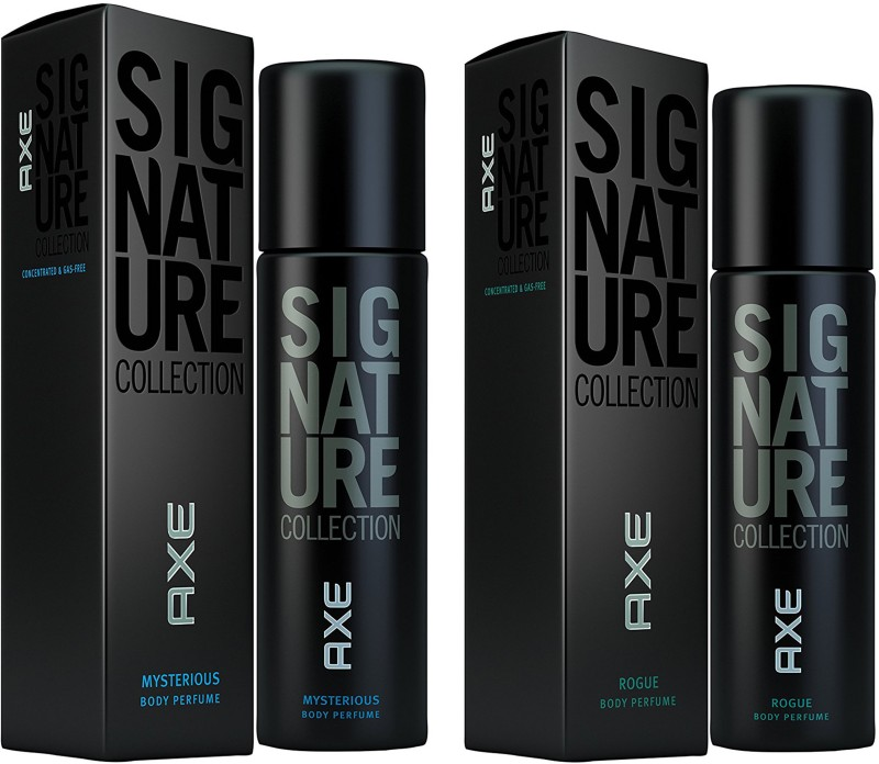 AXE Set of 2 Signature Collection Rogue & Mysterious Perfume Body Spray - For Men(122 ml, Pack of 2)