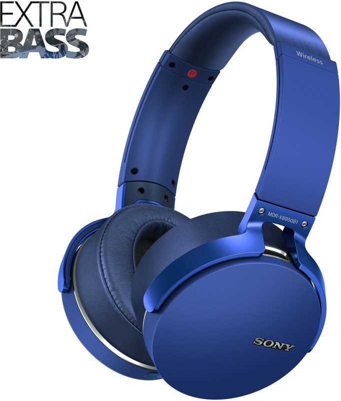 Sony MDR-XB950B1 Wireless Headset with Mic(Blue, Over the Ear)