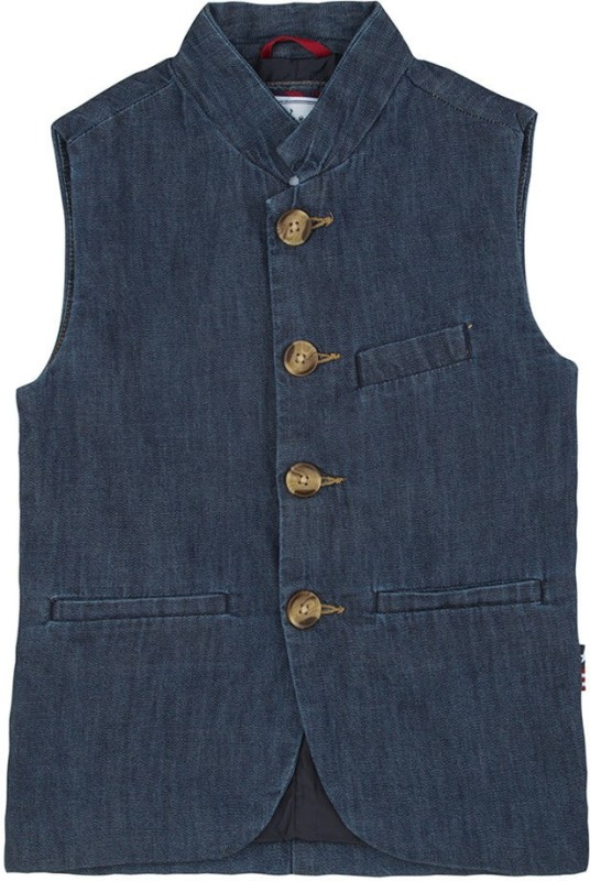 U.S. Polo Assn Sleeveless Solid Boys Nehru Jacket