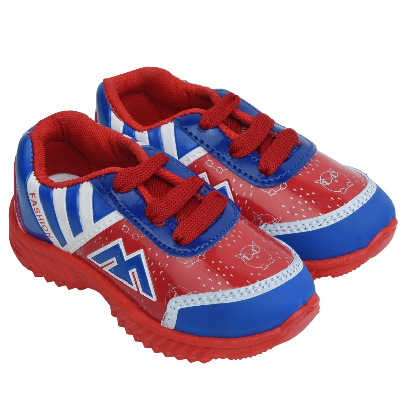 Hotland Boys Lace Running Shoes(Red)