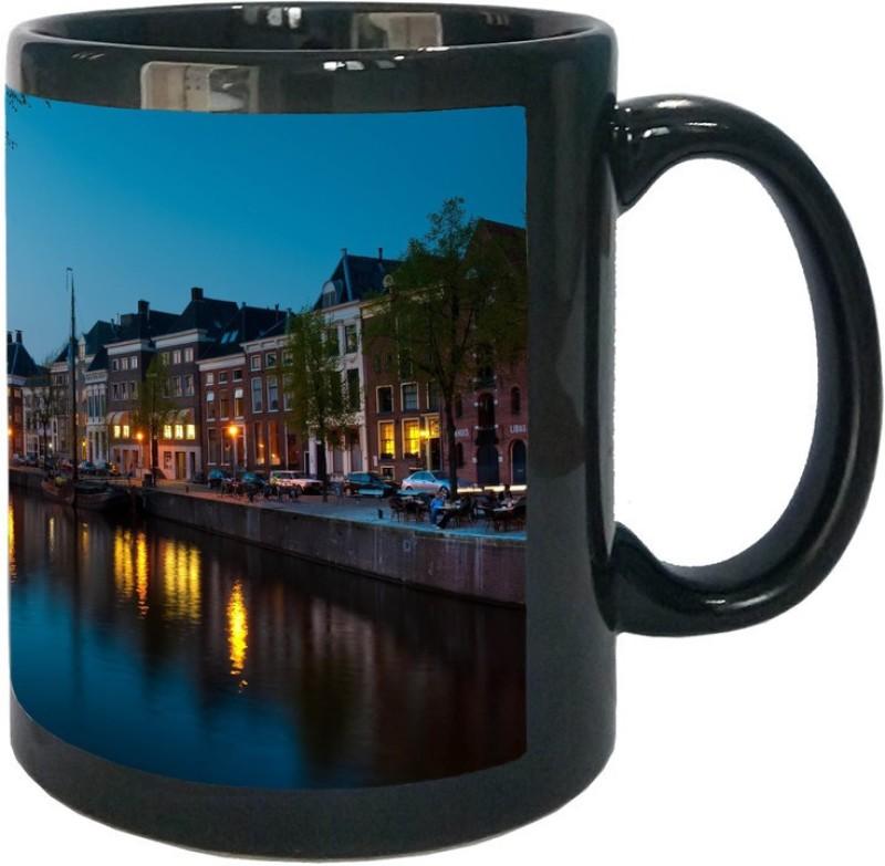 Arkist groningen canal Black Ceramic Mug(340 ml)