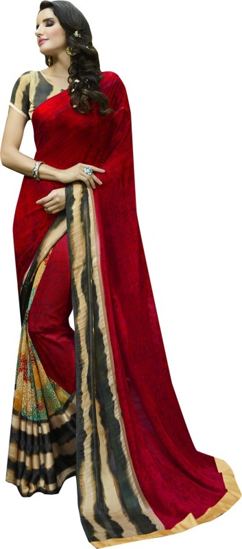 Shaily Retails Embellished Fashion Georgette Saree(Multicolor)