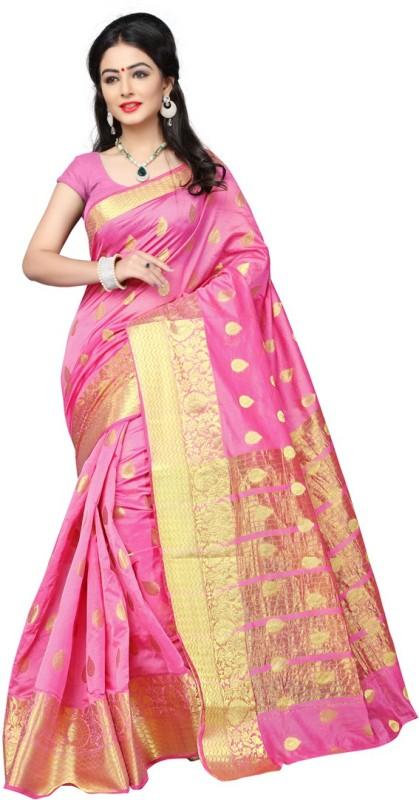 Manvaa Woven Kanjivaram Banarasi Silk Saree(Multicolor)