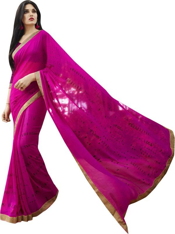 Shaily Retails Self Design Fashion Georgette Saree(Pink)