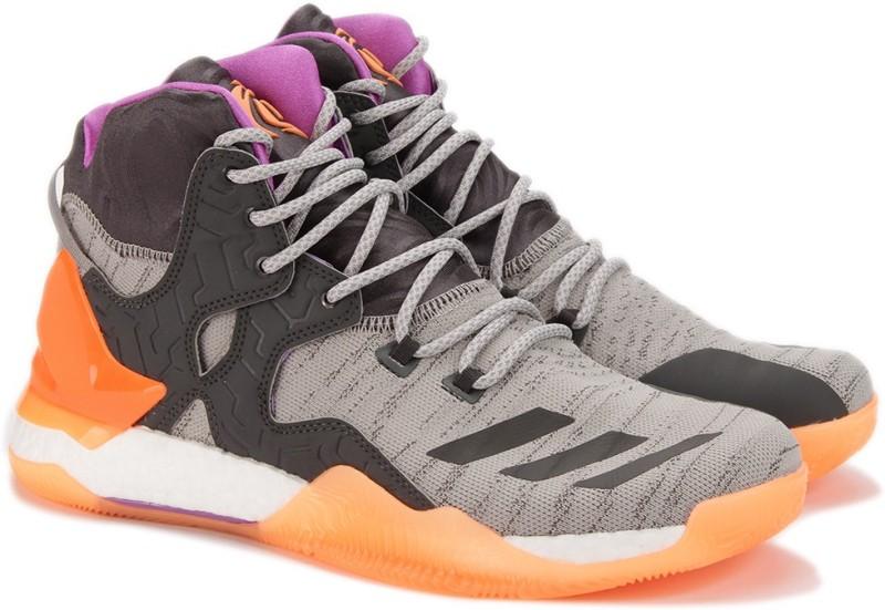 ADIDAS D ROSE 7 PRIMEKNIT Basketball Shoes For Men(Grey)