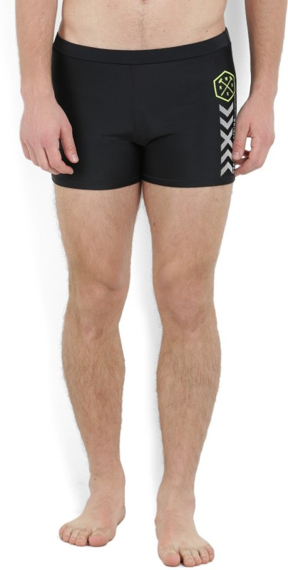 REEBOK Solid Men's Black Swim Shorts