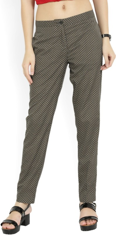 Van Heusen Regular Fit Womens Black, White, Green Trousers