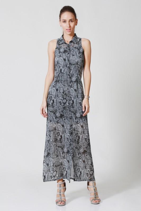 Allen Solly Women Maxi Black Dress