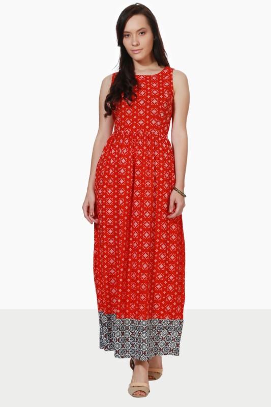 People Women Maxi Red Dress