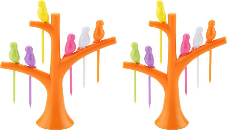 Nestwell Disposable Plastic Fruit Fork Set(Pack of 2)