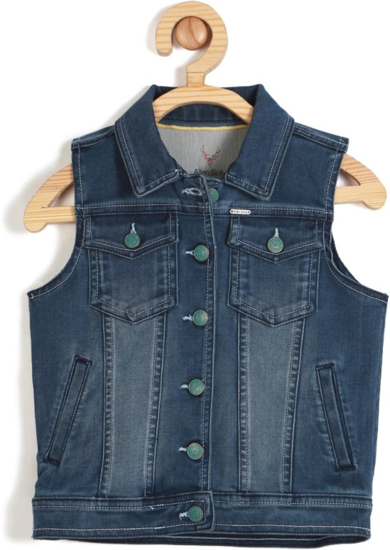 Allen Solly Sleeveless Solid Boys NA Jacket