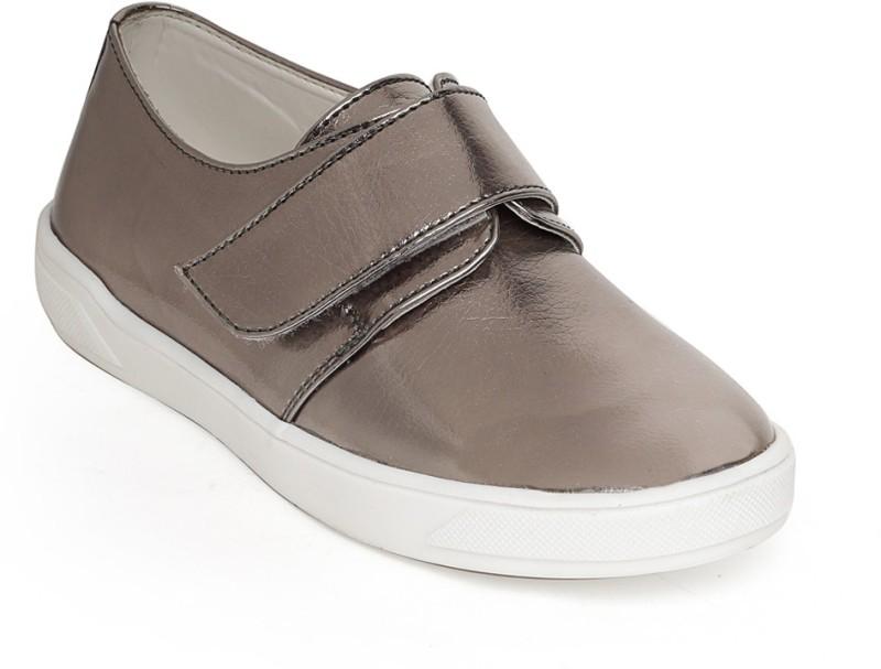 Bruno Manetti Boys & Girls Velcro Sneakers(Grey)