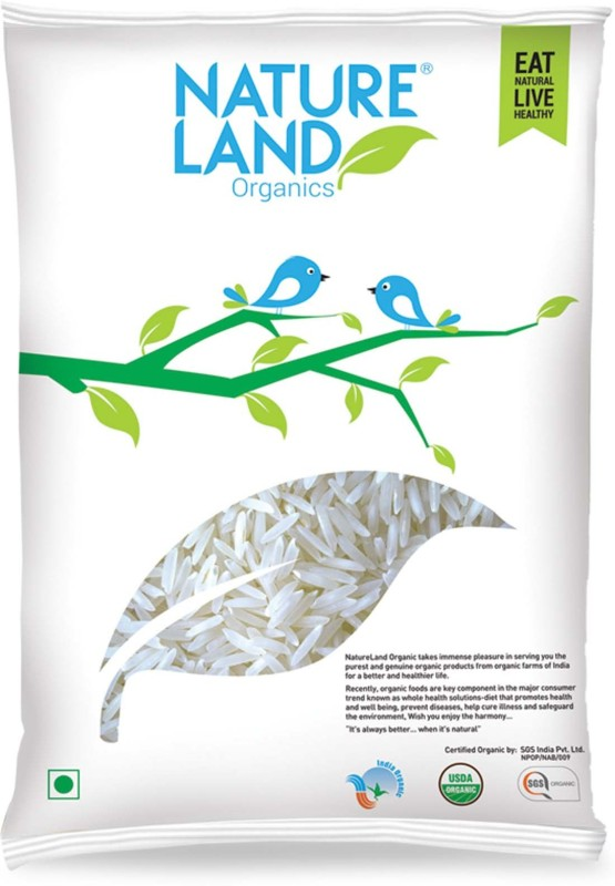 Natureland Organics PARMAL Pusa Rice (Long Grain)(1 kg)
