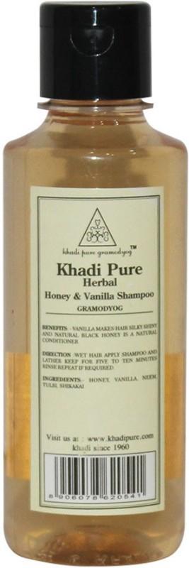 Khadi Pure Herbal Honey & Vanilla Shampoo(210 ml)