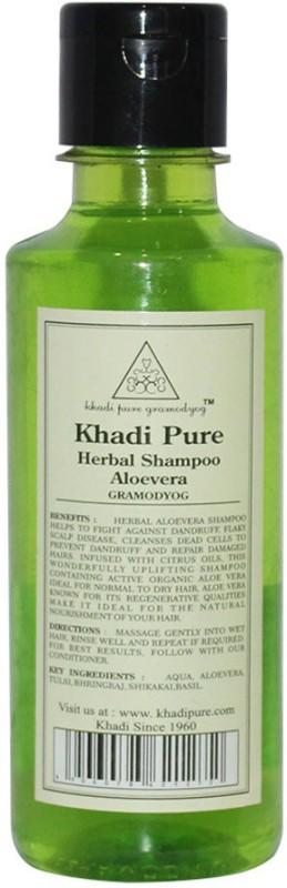 Khadi Pure Herbal Aloevera Shampoo(210 ml)
