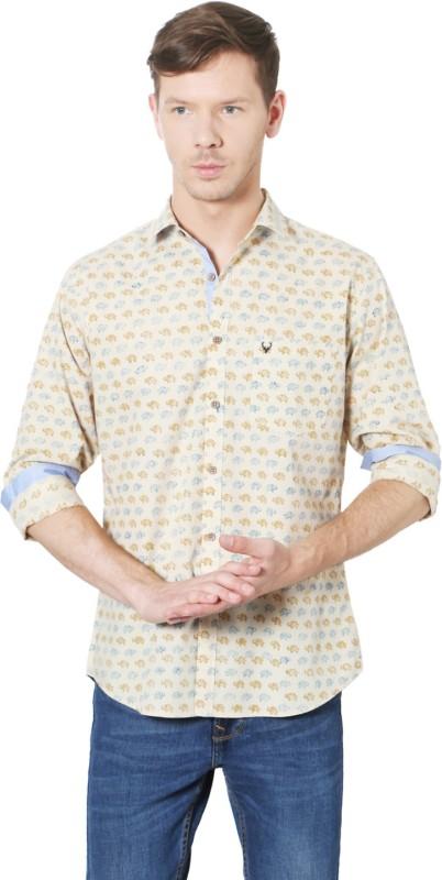 Allen Solly Men Printed Casual Beige Shirt