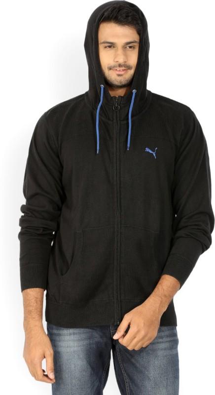 Puma Solid Cowl Neck Casual Men Black sweater