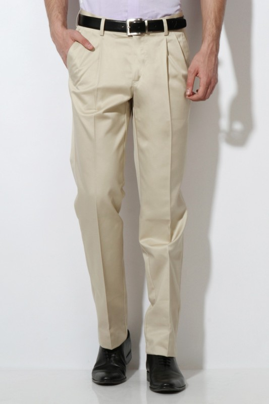 Van Heusen Men Beige Trousers