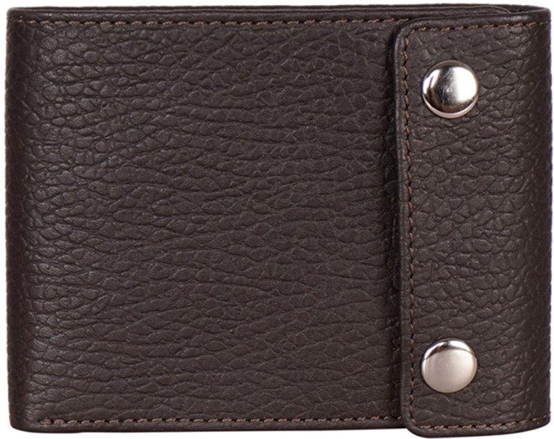 Justanned Men Brown Genuine Leather Wallet(7 Card Slots)