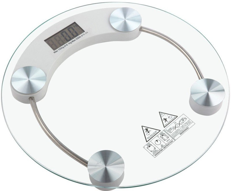 Sheling Round Weighing Machine Weighing Scale(Silver, White)