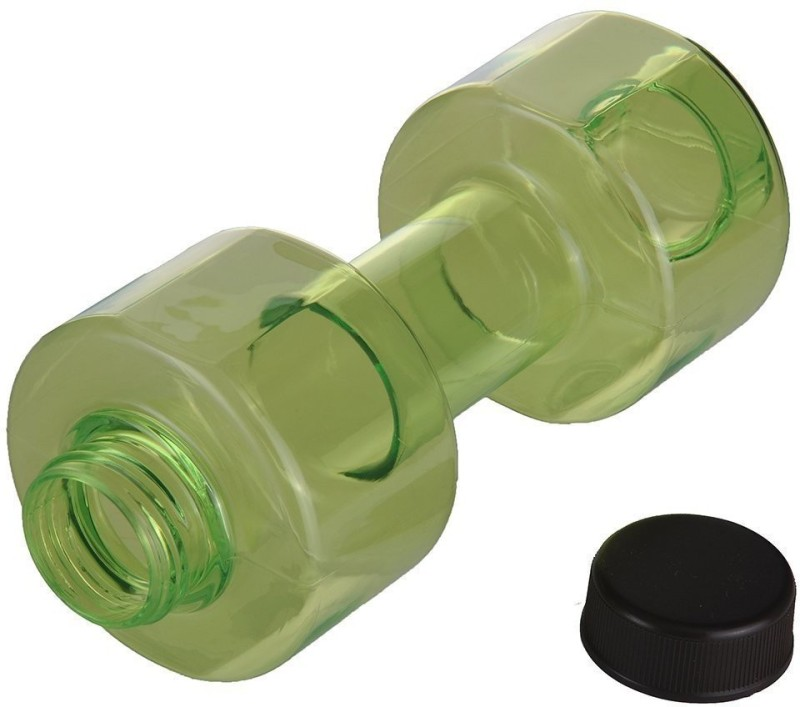 Skywalk Beautiful Dumble Shaped Water Bottle For Daily Use,Gym 500ml 500 ml Bottle(Pack of 1, Green)