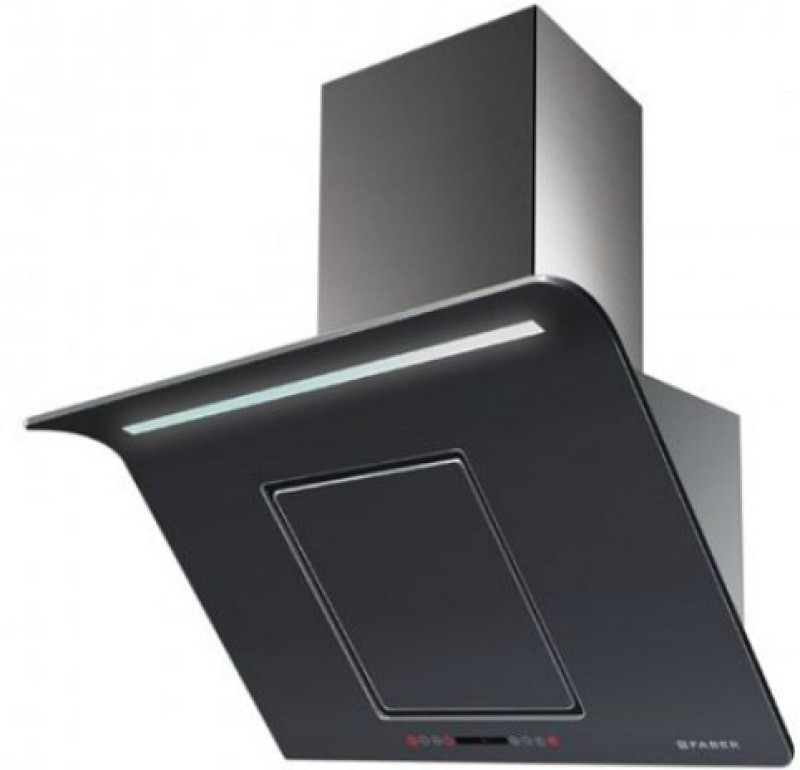 Faber Hood Curvy Plus BK TC LTW 60 (110.0393.697) Wall Mounted Chimney(Black 1000)