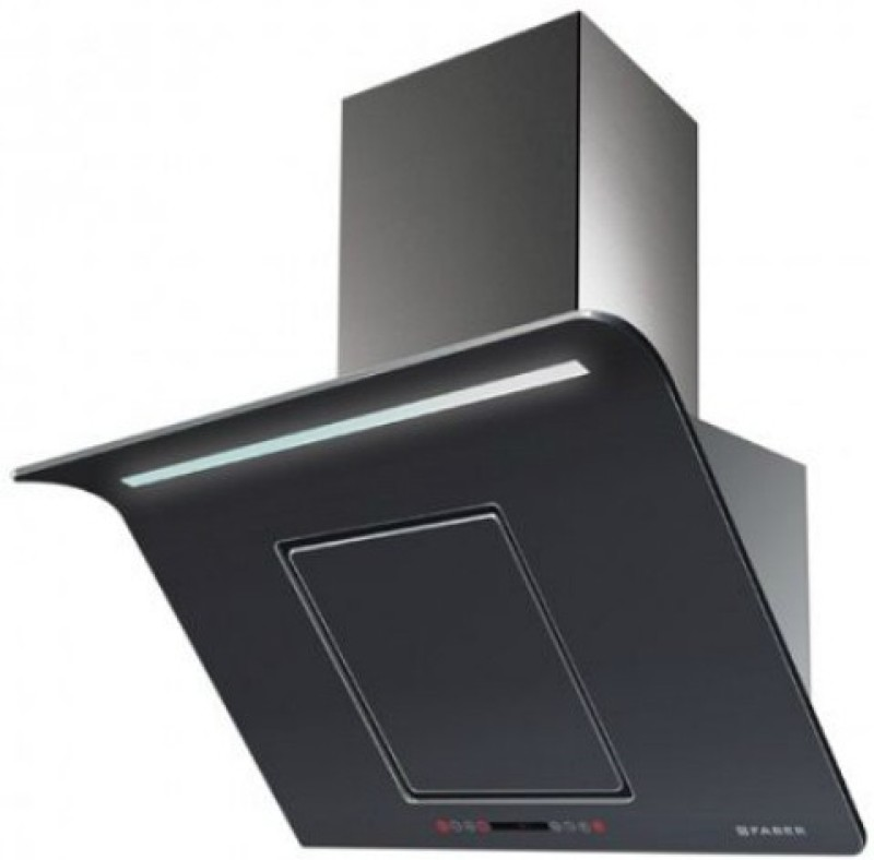 Faber Hood Curvy Plus BK TC LTW 90 (110.0393.698) Wall Mounted Chimney(Black 1000)