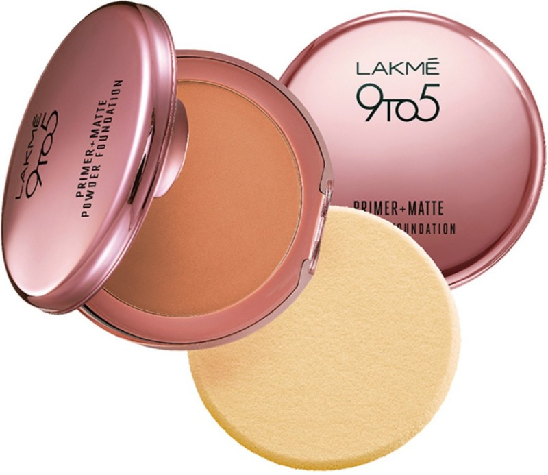Lakme 9 to 5 Primer Plus Matte Powder Foundation Compact(Natural Almond)