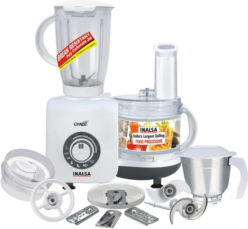 Inalsa Craze 700 W Food Processor(White)