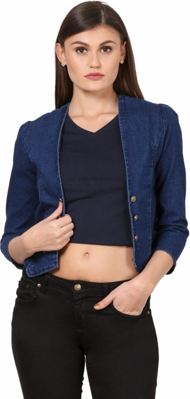 Style Souk Full Sleeve Solid Women NA Denim Jacket