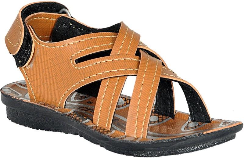 Leon Boys & Girls Velcro Sports Sandals(Brown)