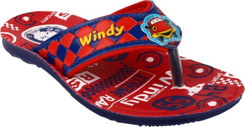 WINDY Boys & Girls Slip On Slipper Flip Flop(Red)