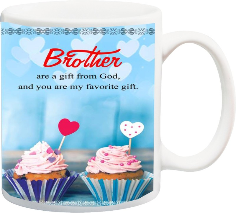ME&YOU Raksha Bandhan Gifts For Bro/ Bhai; Brother Are A Gift From God Printed Ceramic Mug(325 ml)