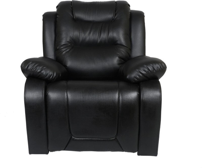 AE DESIGNS Leatherette Manual Recliners(Finish Color - Black)