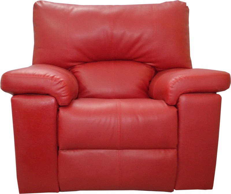 AE DESIGNS Leatherette Manual Recliners(Finish Color - Red)