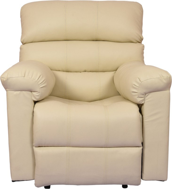 AE DESIGNS Leatherette Manual Recliners(Finish Color - Biege)
