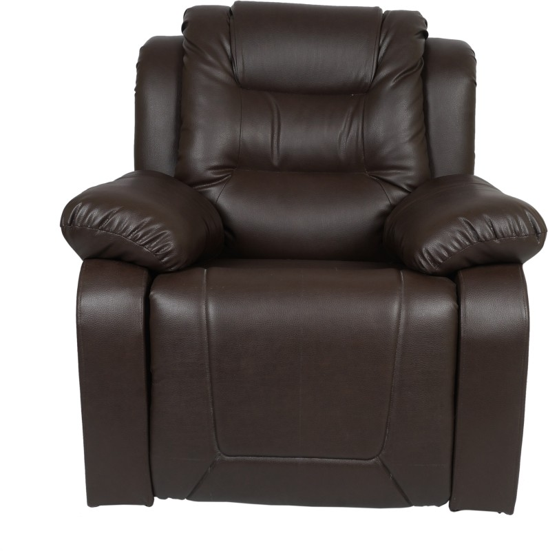 AE DESIGNS Leatherette Manual Recliners(Finish Color - Dark Brown)