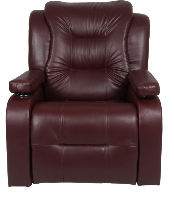 AE DESIGNS Leatherette Manual Recliners(Finish Color - Maroon)