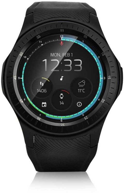 NUVOURA Tarvos Black Smartwatch(Black Strap Medium)