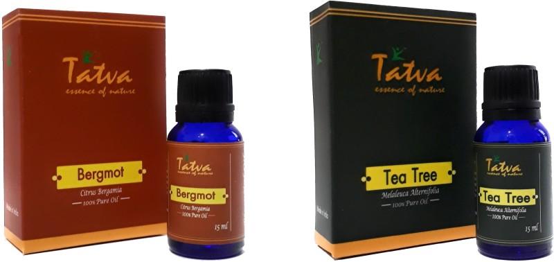 Tatva 100%% Pure Essential Oil- COMBO (Bergamot 15ml & Tea Tree 15ml)(30 ml)