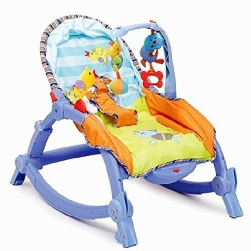 GREEN FROG NEWBORN TO TODDLER PORTABLE BABY ROCKER Rocker(Multicolor)