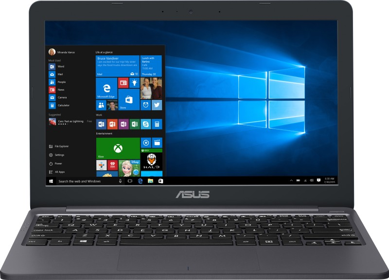 Asus EeeBook Celeron Dual Core - (2 GB/32 GB EMMC Storage/Windows 10 Home) E203NA-FD026T Laptop(11.6 inch, STar Grey, 0.98 kg)
