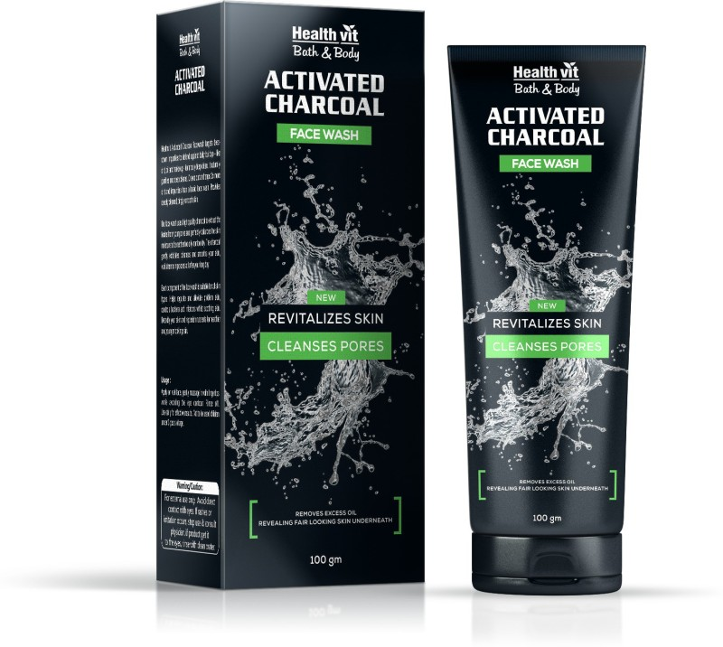HealthVit Activated Charcoal Face Wash(100 ml)