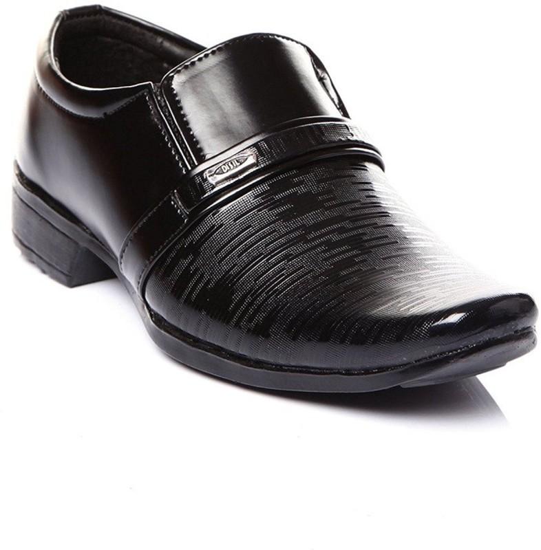 Leon Boys Slip on Formal Boots(Black)