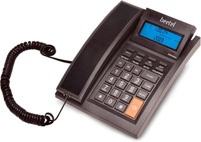 Beetel M64 WITH ANTI-RADIATION INBUILT TECHNOLOGY FEATURE AND UPDATED VERSION WITH SCHEME Corded Landline Phone(Black)