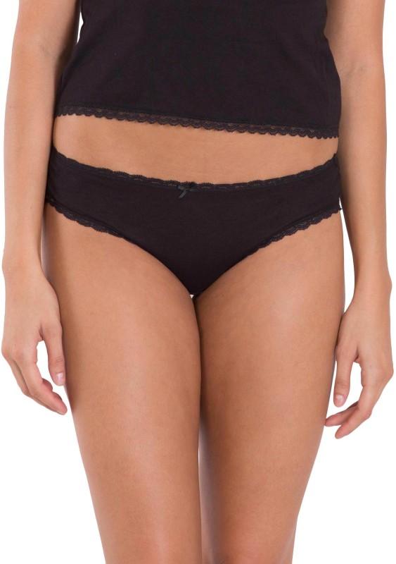 Jockey Womens Bikini Black Panty(Pack of 2)