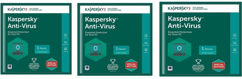 Kaspersky Antivirus Software 2017 New Slim Pack 3Pc 1Year(3Cds,3 serial Numbers EveryKeys 365 Days Valid Free 3Plastic Cd Covers For Safe the Cds From Scratch)