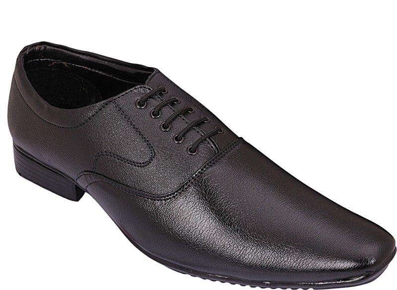 Axonza Black Stylish Formal shoes Corporate Casuals For Men(Black)